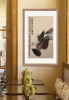 艺术家石广生日记:国画花鸟画蔬菜茄子《大红大紫几风光》; 菜市场就是我的学堂【图3】