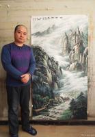 艺术家宁建华收藏:国画彩墨山水画《峡谷新风》,大六尺原创作品。【图1】