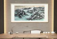 艺术家杨牧青日记:名称:大写意国画《仁如山水自吉祥》 规格:136cmx68【图0】
