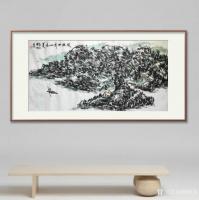 艺术家杨牧青日记:名称:大写意国画《放眼世界山水美》 规格:136cmx68【图0】