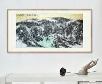 艺术家杨牧青日记:名称:大写意国画《六时吉祥好居处》; 规格:136cmx6【图0】
