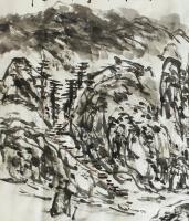 艺术家杨牧青日记:名称:大写意国画《道不虚传,法不妄显,师不藏情》; 规格:【图1】