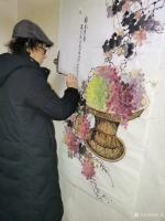 艺术家徐如茂日记:国画花鸟画《珠光累累》《天香醉人归》; 病树前头万木春,但【图3】