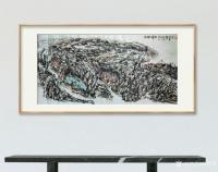 艺术家杨牧青日记:名称:大写意国画《塬畔情深》 规格:136cmx68cm【图0】