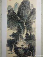 艺术家杨增超日记:国画山水画作品《高山流水》彩墨画,尺寸四尺竖幅68X138C【图2】