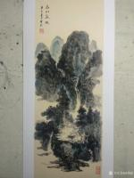 艺术家杨增超日记:国画山水画作品《高山流水》彩墨画,尺寸四尺竖幅68X138C【图3】