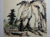 艺术家杨增超日记:国画山水画作品《山村初晴》彩墨画,卡纸,尺寸斗方50x50c【图2】