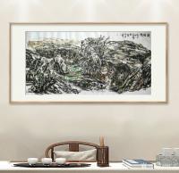 艺术家杨牧青日记:名称:大写意国画《陇塬情》 规格:137cmx70cm 【图0】