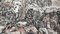 艺术家杨牧青日记:名称:大写意国画《有希望的黄土大塬》 规格:137cmx7【图1】