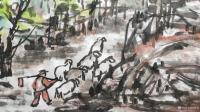 艺术家杨牧青日记:名称:大写意国画《有希望的黄土大塬》 规格:137cmx7【图2】