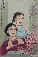 艺术家徐景莲日记:国画工笔人物画新冠肺炎疫情题材《万锦颜开》《春意浓》;刚完成【图1】