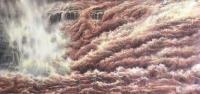 艺术家袁峰日记:油画黄河作品,万里黄河声怒号,天开一堑势雄豪……请欣赏【图1】