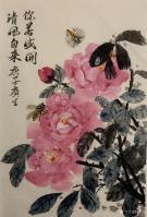 艺术家石广生日记:国画花鸟画《你若盛开清风自来》; 胡乱涂两笔,算是520情【图5】