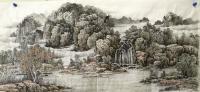 艺术家陈庆明日记:新创作的6尺国画山水画作品《春之韵》,愿祖国的江山春意盎然,【图0】