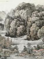 艺术家陈庆明日记:新创作的6尺国画山水画作品《春之韵》,愿祖国的江山春意盎然,【图1】