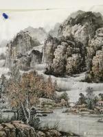艺术家陈庆明日记:新创作的6尺国画山水画作品《春之韵》,愿祖国的江山春意盎然,【图5】