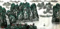艺术家叶向阳日记:国画山水画《家住青山绿水间》,丙申年夏月叶向阳作品欣赏。 【图0】