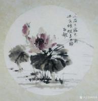 艺术家欧凯歌日记:国画花鸟画荷花小品《小荷才露尖尖角,早有蜻蜓立上头》;庚子年【图0】