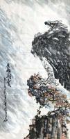 艺术家王贵烨日记:国画动物画老鹰系列作品《远瞻山河》《秋鹰整翮当云霄》;庚子年【图3】