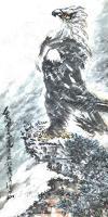 艺术家王贵烨日记:国画动物画老鹰系列作品《远瞻山河》《秋鹰整翮当云霄》;庚子年【图4】