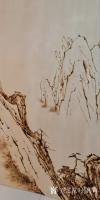 艺术家孙传海日记:烙画《黄山晓雲圖》创作进行中,作品尺寸2.88m×1.98m【图1】