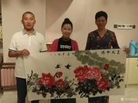 艺术家汪琼日记:国画花鸟画牡丹笔会作品《惠风和畅》《富贵吉祥》,作品尺寸四尺【图1】