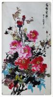 艺术家汪琼日记:国画花鸟画牡丹笔会作品《惠风和畅》《富贵吉祥》,作品尺寸四尺【图2】