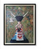 艺术家杨洪顺日记:油画人物画《孤鸿》,作者杨洪顺,附人物原型合影;  创作感【图1】