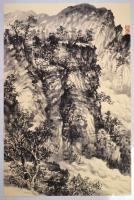 艺术家阎敏日记:太行山大峡谷写生作品欣赏,庚子年秋月阎敏写生系列作品。【图5】