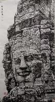 艺术家马培童日记:焦墨刻石皴法:   焦墨艺术,一定要给观众精神上的享受,和【图0】