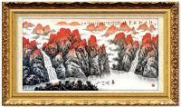 艺术家叶向阳日记:国画山水画《江山如此多娇》为庆祝中国共产党成立100周年而作【图1】