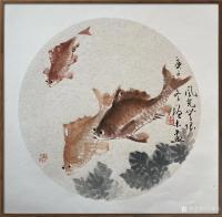 艺术家冯增木日记:国画鱼系列作品《厚德载物》《风光无限》《幸福祥和》,庚子年冬【图1】