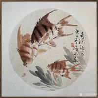 艺术家冯增木日记:国画鱼系列作品《厚德载物》《风光无限》《幸福祥和》,庚子年冬【图3】