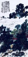 艺术家龚光万日记:国画写意山水画新作《雨过碧溪,云护仙宫》,作品尺寸69.13【图0】