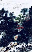 艺术家龚光万日记:国画写意山水画新作《雨过碧溪,云护仙宫》,作品尺寸69.13【图2】