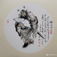 艺术家何学忠日记:国画人物画钟馗《神威图》《驱邪佑安,招财纳福》《酒醉心明》;【图0】