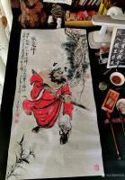 艺术家何学忠日记:国画人物画钟馗《神威图》《驱邪佑安,招财纳福》《酒醉心明》;【图4】