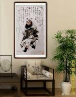 艺术家何学忠日记:《观何学忠钟馗画有感》   何学忠,生于凉州,长于凉州,号【图4】