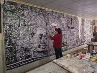 艺术家马培童日记:2021年5月1日宣布,马培童的书画作品价格,焦墨焦彩山水和【图0】