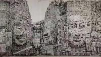 艺术家马培童日记:(马氏焦墨画)我的作品,原则上坚持不卖的。其实,我的画,不卖【图1】