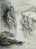 艺术家陈刚日记:画三幅国画山水水粉画《黄山烟云》《楠溪捕鱼》,装裱两幅,又开【图1】