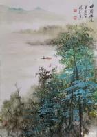 艺术家陈刚日记:画三幅国画山水水粉画《黄山烟云》《楠溪捕鱼》,装裱两幅,又开【图2】