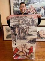 艺术家尚建国日记:国画人物画《福由心造》《得大自在》《福从佛缘得》,    【图1】
