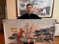 艺术家尚建国日记:国画人物画《福由心造》《得大自在》《福从佛缘得》,    【图2】