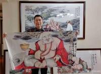 艺术家尚建国日记:国画人物画《福由心造》《得大自在》《福从佛缘得》,    【图3】