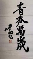 艺术家周鹏飞日记:周鹏飞书法作品《放却心间笼,怡悦时光中。谁与岱顶高,诗留峰上【图1】