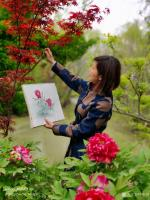 艺术家罗虹明生活:方彩植物园真的很美,每个角落都是一幅画。春日,携友踏青写生。【图3】