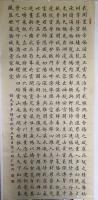 艺术家陈小明日记:楷书书法作品录天步子《缙云赋》,作品尺寸78cmX180㎝,【图0】