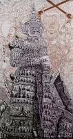 艺术家马培童日记:笔墨气韵(83)马培童焦墨画感悟笔记;   焦墨枯笔是指骨【图1】