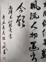 艺术家陈文斌日记:书法家陈文斌书行书录《沁园春.雪》辛丑夏月书; 北国风光,【图4】